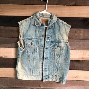 Levi's Mens Vintage Distressed Jean Jacket size L